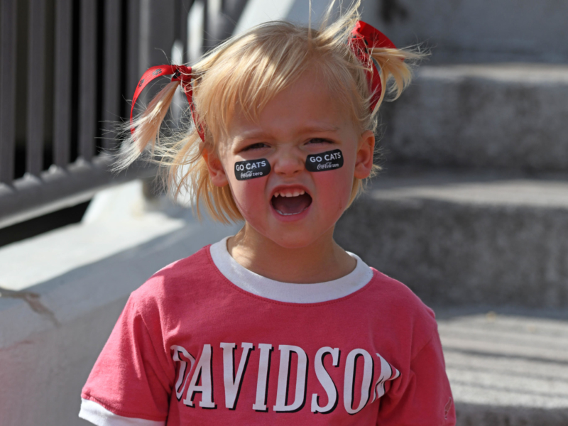 "This young Wildcat fan gave us a hearty ""Go Wildcats"" for this photo."